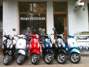 Vespa-Verleih.de in der Reichenberger Straße in Kreuzberg.
